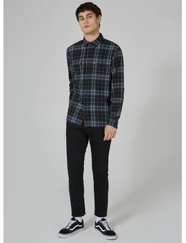 levis-blue-jackson-check-button-up-shirt by topman