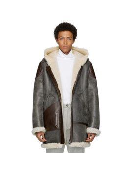 black-shearling-lava-pilot-jacket by acne-studios