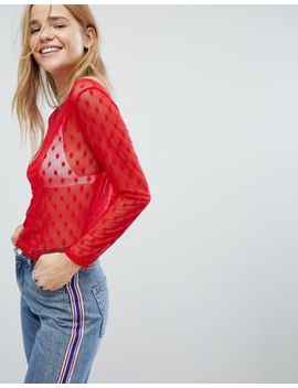 nobodys-child-long-sleeve-mesh-top-with-spot by nobodys-child