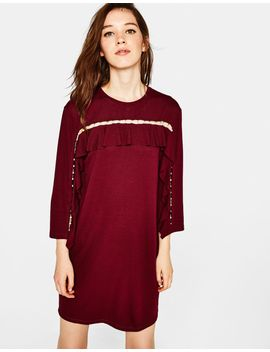 short-dress-with-faux-pearl-detail by bershka