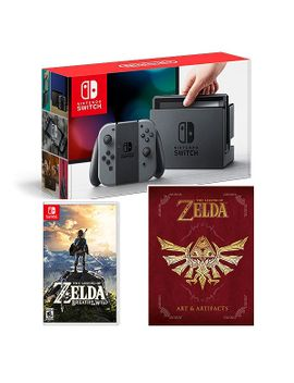 nintendo-switch-gray-w_botw-+-book by think-geek