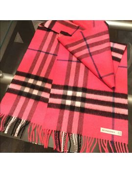 burberry-pink-cashmere-scarf by burberry