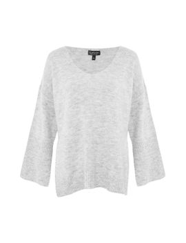 deep-v-neck-stretch-long-line-jumper by topshop