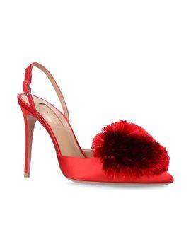 satin-powder-puff-sandals-105 by aquazzura