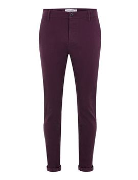 blackberry-purple-stretch-skinny-chinos by topman