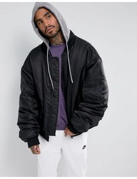 sixth-june-super-oversized-bomber-in-black-with-jersey-hood by sixth-june