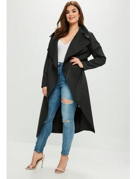 curve-grey-tailored-waterfall-coat by missguided