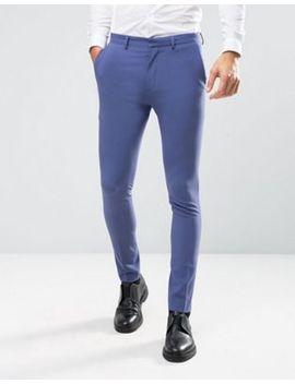 asos-wedding-super-skinny-suit-pants-in-deep-blue by asos