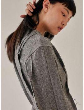 17fw-raw-edge-cutting-dress---gray by low-classic