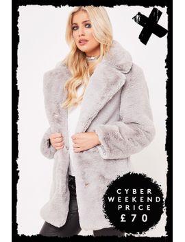 ariana-grey-premium-faux-fur-jacket by misspap