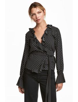 frilled-wrapover-blouse by h&m