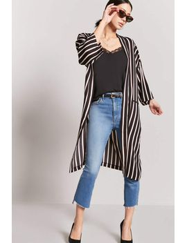 pinstripe-open-front-kimono by forever-21