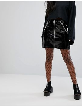 the-ragged-priest-zip-front-mini-skirt-in-high-shine-vinyl by the-ragged-priest