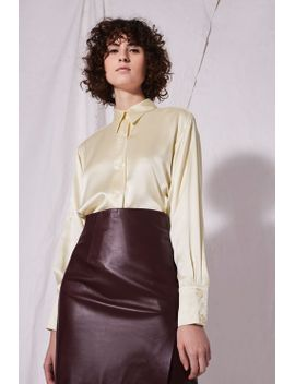 sandwash-silk-shirt by topshop
