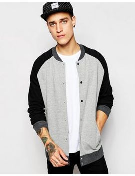 asos-bomber-jacket-in-jersey-with-contrast-sleeves by asos