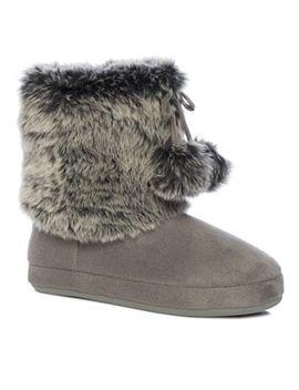 lounge-&-sleep---grey-slipper-boots by lounge-&-sleep