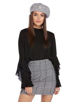 final-sale--black-ruffle-sweet-blouse by windsor