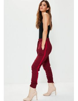 red-binding-striped-tracksuit-joggers by missguided