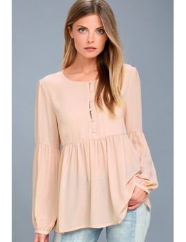 primrose-and-proper-blush-long-sleeve-top by lulus