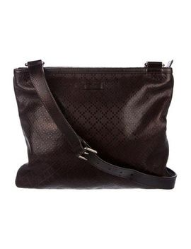 gucci-diamante-leather-messenger-bag by gucci