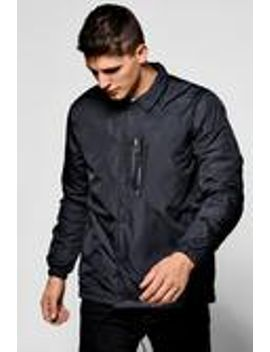 black-coach-jacket-with-ma1-chest-zip by boohooman