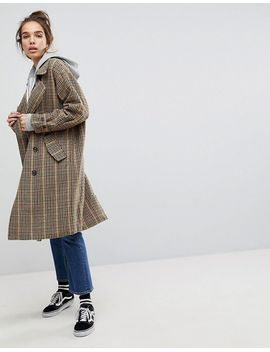 pull&bear-check-print-trench-trench by pull&bear