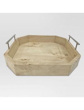 burled-wood-tray-with-metal-handles-small---project-62 by project-62