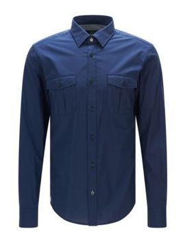 stretch-cotton-button-down-shirt-with-stretch-tailoring,-slim-fit-|-ramsey by boss