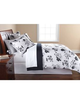 mainstays-black-&-white-floral-bed-in-a-bag-bedding by mainstays