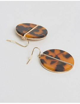 pieces-leopard-disk-earrings by pieces