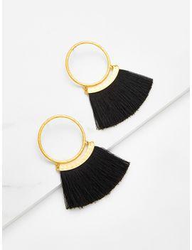 fringe-design-drop-earrings by sheinside