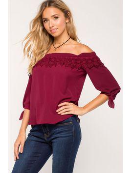 kristina-crochet-off-shoulder-top by agaci