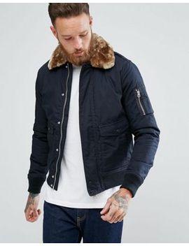 schott-exclusive-air-bomber-jacket-detachable-faux-fur-collar-slim-fit-in-navy_beige by schott