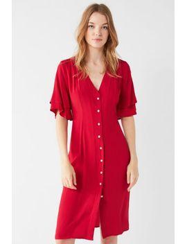 somedays-lovin-cherry-lace-up-button-down-midi-dress by somedays-lovin