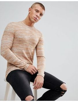 asos-longline-muscle-fit-long-sleeve-t-shirt-in-brushed-knitted-jersey-in-tan by asos