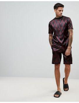 asos-design-pyjama-set-in-satin-with-paisley-print by asos