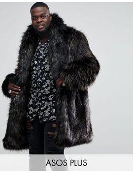 asos-plus-faux-fur-overcoat-in-brown by asos