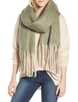 kensington-brushed-herringbone-fringe-scarf by free-people