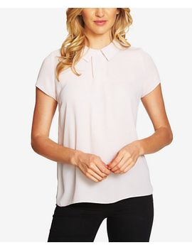 collared-cap-sleeve-blouse by cece