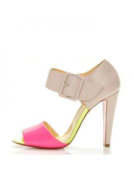 christian-louboutin-patent-calf-trezotro-100-sandal-heels-40-version-shocking by christian-louboutin