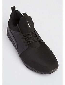 black-mixed-media-trainers by rue21