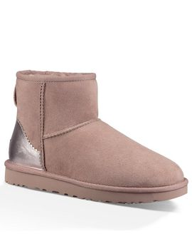 ugg®-classic-mini-ii-metallic-suede-booties by generic