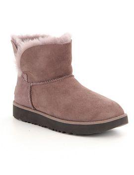 ugg®-classic-cuff-slip-on-mini-booties by generic