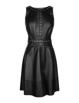studded-leather-skater-dress by karen-millen