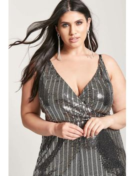 plus-size-metallic-sequin-romper by forever-21