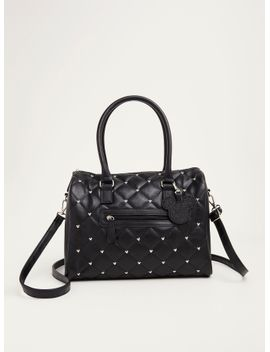 minnie-mouse-studded-quilted-satchel-handbag by torrid