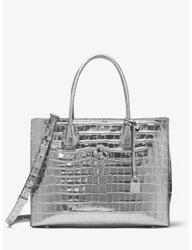 mercer-metallic-crocodile-embossed-leather-tote-bag by michael-kors