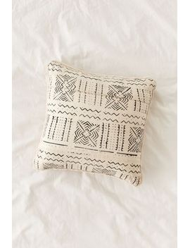 cozy-nomad-mudcloth-faux-fur-throw-pillow by cozy-nomad