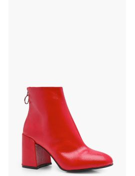patent-block-heel-ankle-shoe-boots by boohoo
