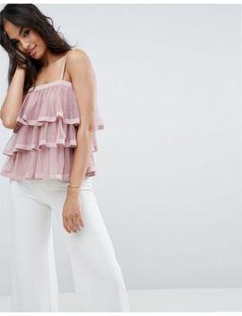 asos-cami-top-with-pretty-tiered-ruffles by asos-collection